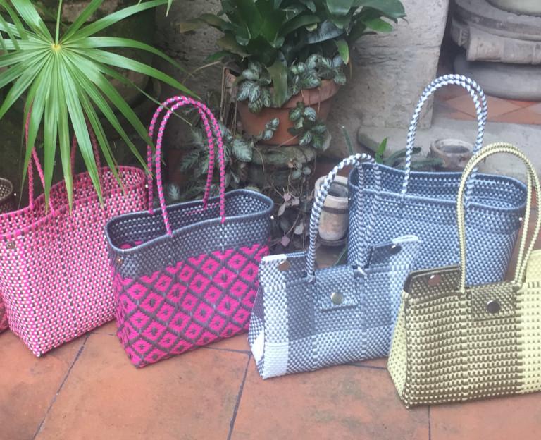 más baratas venta outlet varios estilos LILA bolsas artesanales mexicanas de plástico y artículos de ...